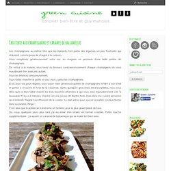 Crostinis aux champignons et caramel de balsamique