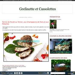 Terrine de Poulet au Tamari, aux Champignons de Paris et aux Pistaches
