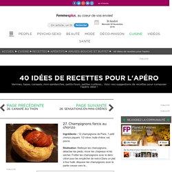27. Champignons farcis au chorizo : 40 idées de recettes pour l'apéro