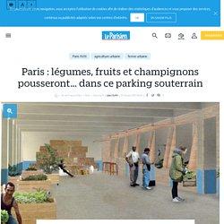 Paris : légumes, fruits et champignons pousseront… dans ce parking souterrain