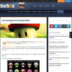 Les champignons de Super Mario