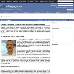 Ludovic Champion : Classcraft pour animer le cours d'espagnol