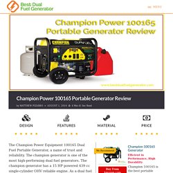Champion Power 100165 Portable Generator Review