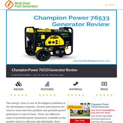 Champion 76533 Portable Generator Review