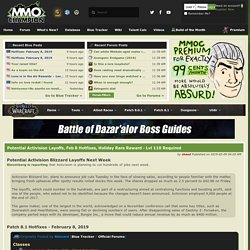 MMO-Champion - Index