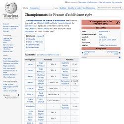 Championnats de France d'athlétisme 1967