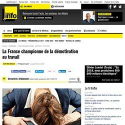 La France championne de la démotivation au travail