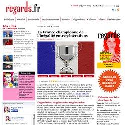 La France championne de l'inégalité entre générations