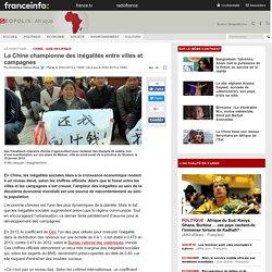 La Chine championne des inégalités entre villes et campagnes