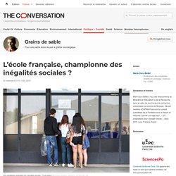 L'école française, championne des inégalités sociales ?