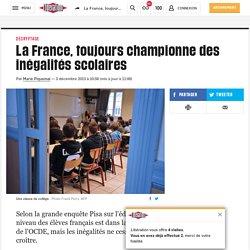La France, toujours championne des inégalités scolaires