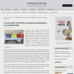 10 jours après, en Flandre, championne du jihadisme, on vomit Bruxelles. – UN BLOG DE SEL