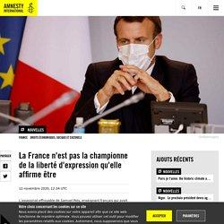 La France n'est pas la championne de la liberté d'expression qu'elle affirme être