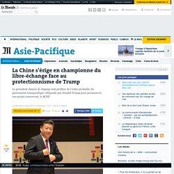 LaChines'érige en championne du libre-échange face au protectionnisme de Trump