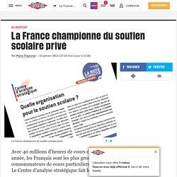 La France championne du soutien scolaire privé