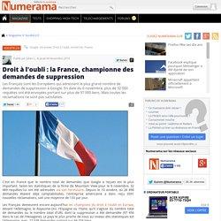 Droit à l'oubli : la France, championne des demandes de suppression