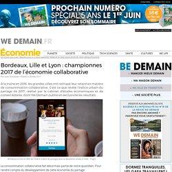 Bordeaux, Lille et Lyon : championnes 2017 de l'économie collaborative
