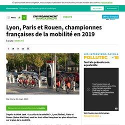 Lyon, Paris et Rouen, championnes françaises de la mobilité en 2019