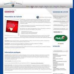 Championnet Sports : Badminton
