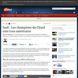 IaaS : Les champions du Cloud sont tous américains