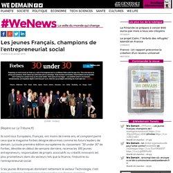 Les jeunes Français, champions de l'entrepreneuriat social