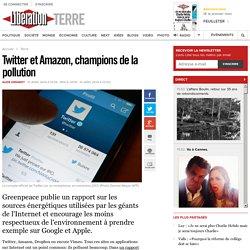 Twitter et Amazon, champions de la pollution
