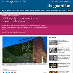 M&S: supply chain champions of sustainable business