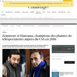 Zemmour et Hanouna, champions des plaintes de téléspectateurs auprès du CSA en 2016