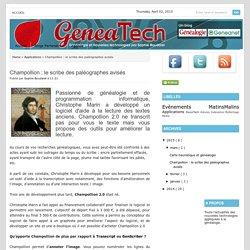 GeneaTech: Champollion : le scribe des paléographes avisés