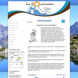 """Patois du Champsaur - Gîte de France """"Le Rouchassier"""", Alpes, Champsaur, Montagne"""