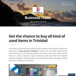 Sale Used Items Trinidad