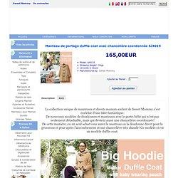 Manteau de portage duffle coat avec chancelière coordonnée SJ4019 , 165,00EUR, Sweet Mommy, vêtements de maternité et allaitement