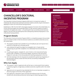 Chancellor's Doctoral Incentive Program