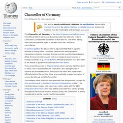 Chancellor of Germany