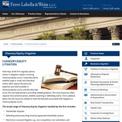 Chancery / Equity Litigation Attorneys in New York & New Jersey