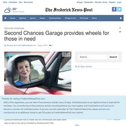Second Chances Garage provides wheels for those in need