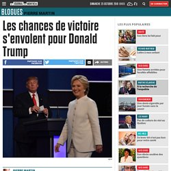 Les chances de victoire s'envolent pour Donald Trump