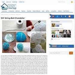 DIY cordes-Ball lustre