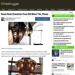 Steam Punk Chandelier From Old Bikes? Yes, Please