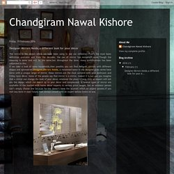 Chandgiram Nawal Kishore: Designer Mirrors Noida,a different look for your décor
