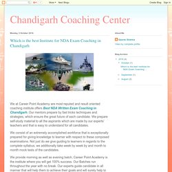 Which is the best Institute for NDA Exam Coaching in Chandigarh