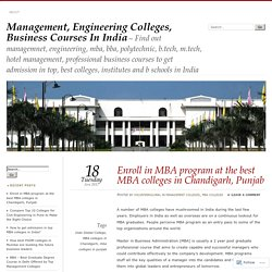 Enroll in MBA program at the best MBA colleges in Chandigarh, Punjab