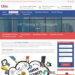 HR training in Chandigarh - CORE, Generalist & Recruiter Profiles