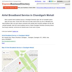 Airtel Broadband Service in Chandigarh Mohali, 383, Industrial Area, Phase-2 Panchkula, Chandigarh, , Chandigarh, Chandigarh (UT), 160002, India