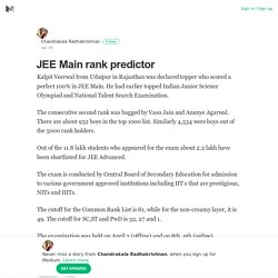 JEE Main rank predictor – Chandrakala Radhakrishnan – Medium