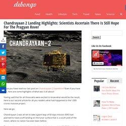 Chandrayaan 2 Landing Highlights