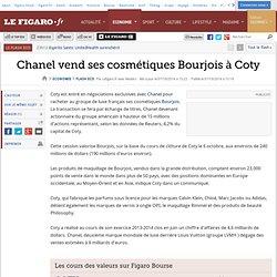 Chanel vend ses cosmétiques Bourjois à Coty
