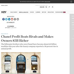 Chanel Profit Beats Rivals and Makes Owners $3B Richer