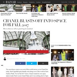 Chanel Space Station Fall 2017 Show Paris Fashion Week - Chanel Rocket Ship and Space Station Show Fall 2017