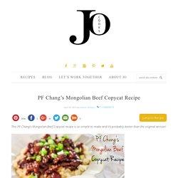 PF Chang's Mongolian Beef Copycat Recipe